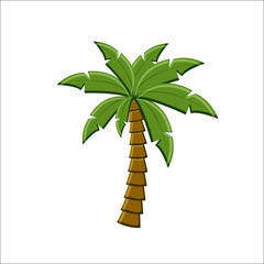 Palm tree icon isolated on white background.