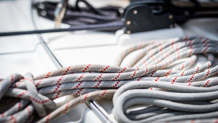żeglarstwo liny tło