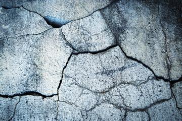 detail crack on old concrete