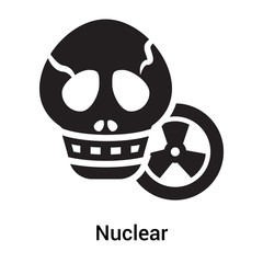 Nuclear icon vector sign and symbol isolated on white background, Nuclear logo concept