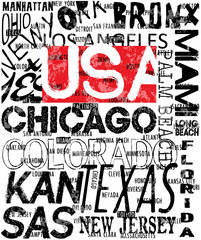 American logo athletic typography