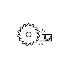 electric saw for wood outline icon. Element of construction icon for mobile concept and web apps. Thin line electric saw for wood outline icon can be used for web and mobile