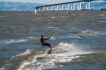 Kitesurfing in the San Francisco Bay