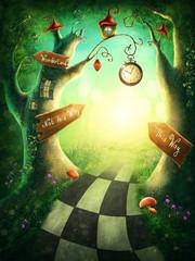 Photo sur Plexiglas Jaune de seuffre Enchanted wood