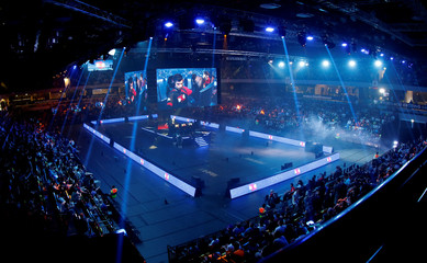 General view during the final day of the Rocket League Championship Series Finals in London