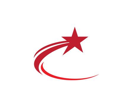 Shooting star logo illustration design