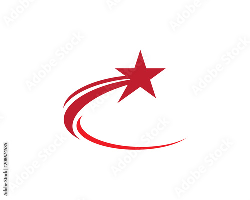 Shooting Star Logo Illustration Design Stock Image And Royalty Free