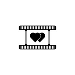 romantic movie icon. Element of cinema icon. Premium quality graphic design icon. Signs and symbols collection icon for websites, web design, mobile app