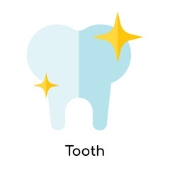 Tooth icon vector sign and symbol isolated on white background, Tooth logo concept