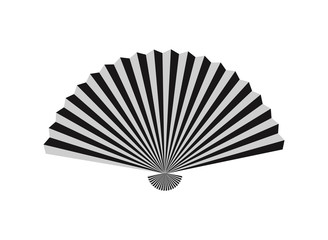 Fan icon. Isolated on white background. Vector illustration.