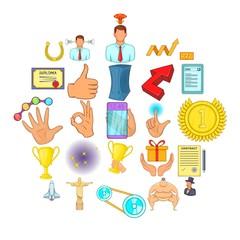 Management icons set. Cartoon set of 25 management vector icons for web isolated on white background