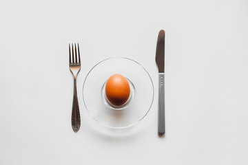 Fresh, raw eggs on a white background. Minimalism and ecology. Healthy lifestyle.