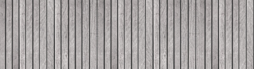 Panorama of White wood planks wall background