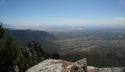 View of Albuquerque New Mexico from the top of the Sandia Mountains