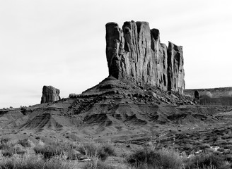 Wall Mural - Isolated Monument monument Valley Arizona Navajo Nation