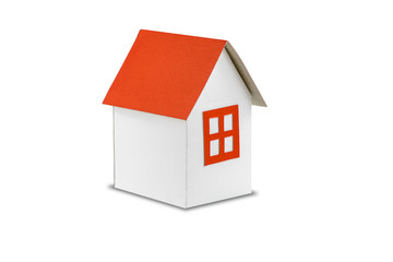 Home Paper Model isolated on white background