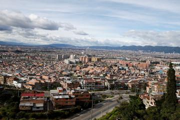 An aerial view of Bogota city