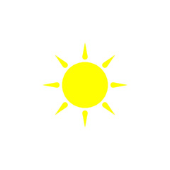 the sun flat icon. Element of beach holidays colored icon for mobile concept and web apps. Detailed the sun flat icon can be used for web and mobile. Premium icon