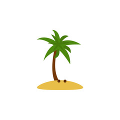 coconut tree flat icon. Element of beach holidays colored icon for mobile concept and web apps. Detailed coconut tree flat icon can be used for web and mobile. Premium icon