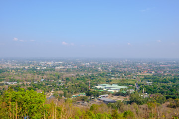 High angle view of northern Thailand.