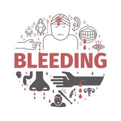 Bleedingbanner. Infographic. Vector signs for web graphics.