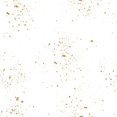 Seamless abstract pattern on white background with paint splashes. Creative texture. Repeat tile.
