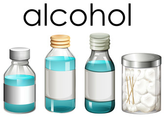 A Set of Medical Alcohol