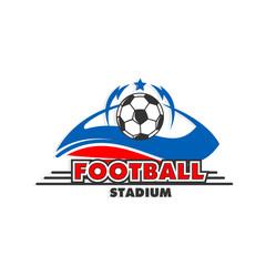 Football stadium vector emblem