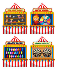A Set of Fun Fair Tent