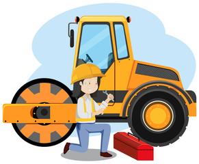 Mechanic Engineer on White Background