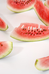 Slices of red delicious juicy watermelon