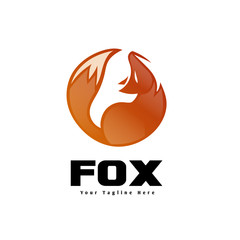 Circle fox look up logo