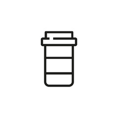 Pill bottle line icon. Drug, painkiller, medication. Pharmacy concept. Vector illustration can be used for topics like rx, prescription medicine, recovery