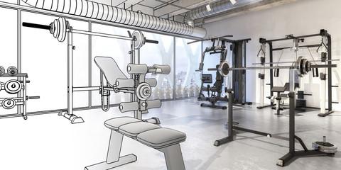 Weights Training Center (panoramic)