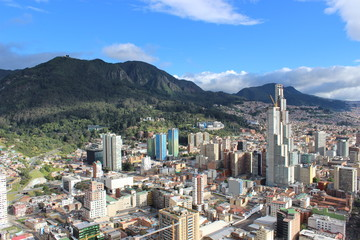 Aerial view of Bogota, Colombia