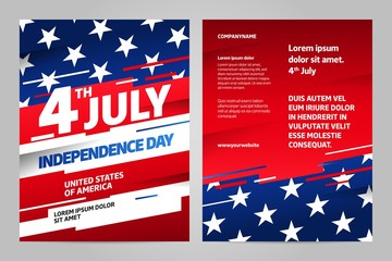 Happy independence day 4 th july, United states of america day. USA Wall mural