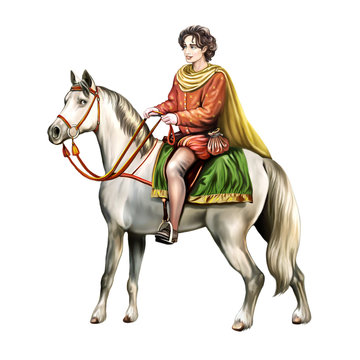 prince on a white horse