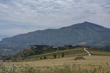 Italian panoramic view in Sicily