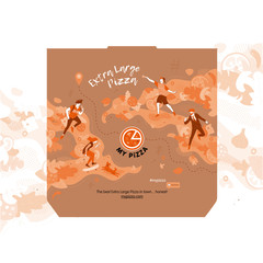 Print design for pizza package