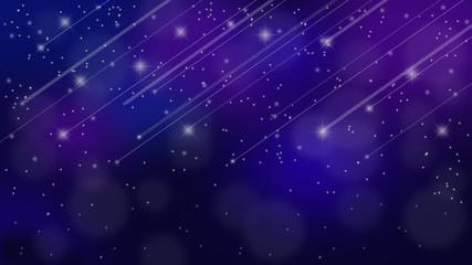 流れ星と満天の星空