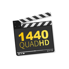Logo 1440 Quad HD. Vector illustration of 1440 Quad HD video