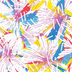 Seamless repeating floral pattern