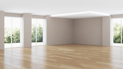 Modern house interior. Repairs. 3D rendering.
