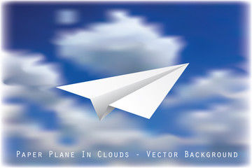 plane in clouds