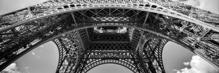 Foto auf Acrylglas Paris Abstract panorama of the Eiffel tower, Paris France