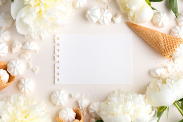 Summer background with Copy Space on Beige