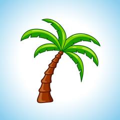 palm tree colored design concept