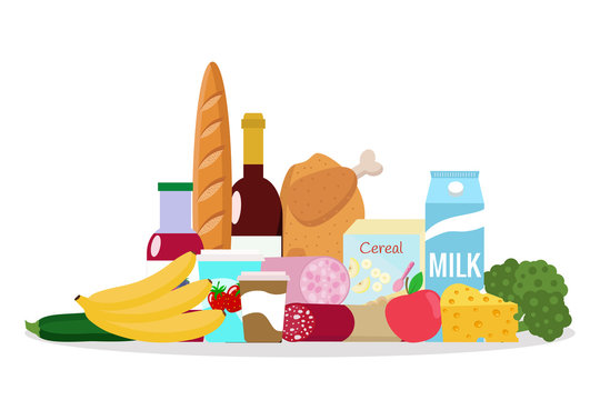 Grocery vector illustration.