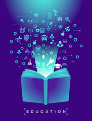 Book and education icons