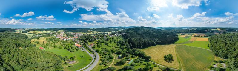 Luftbildpanorama Odenwald